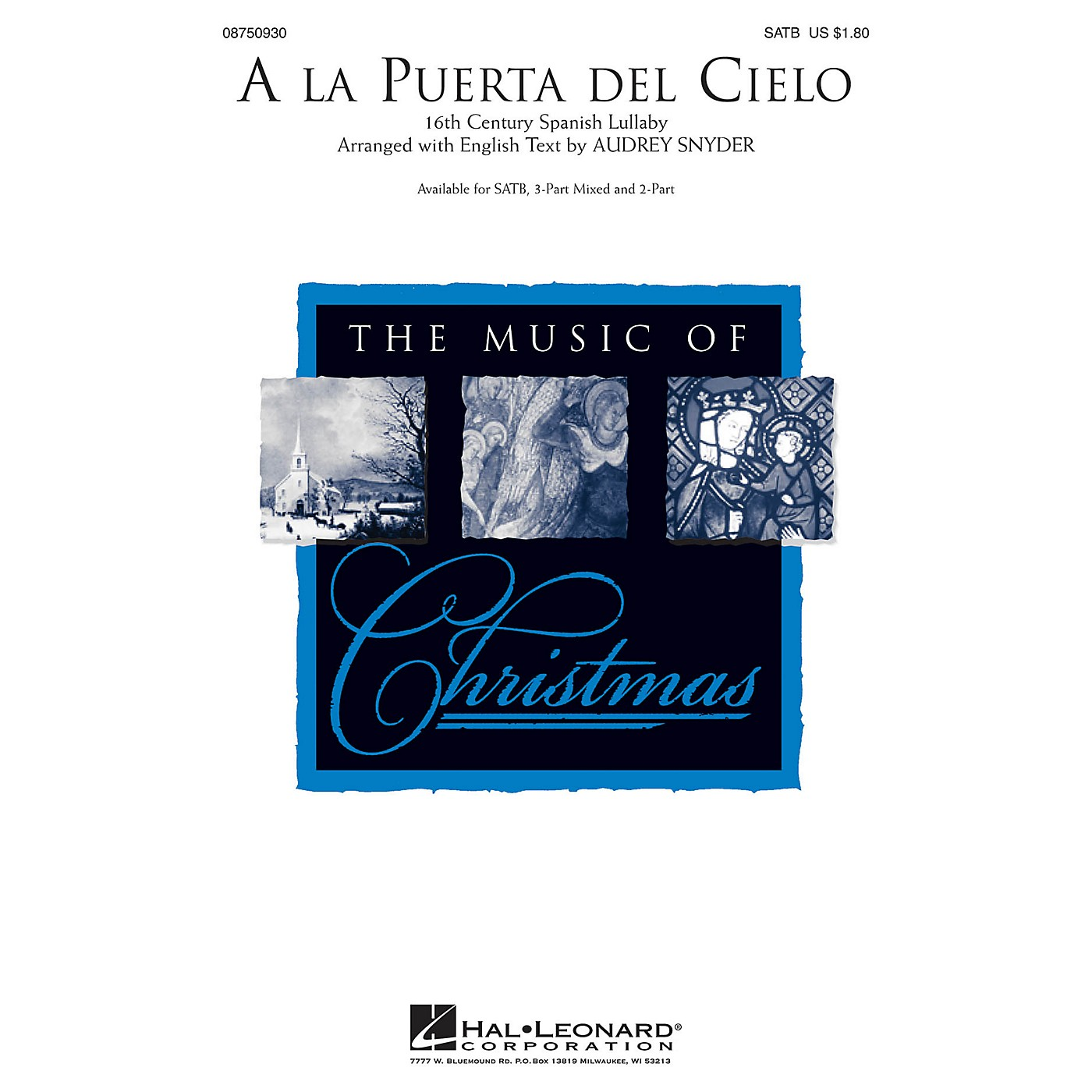 Hal Leonard A la Puerta del Cielo 3-Part Mixed Arranged by Audrey Snyder thumbnail