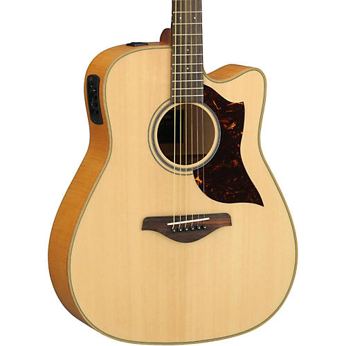 Yamaha A1FMHC A-Series Flame Maple Dreadnought Acoustic-Electric Guitar with SRT Pickup thumbnail