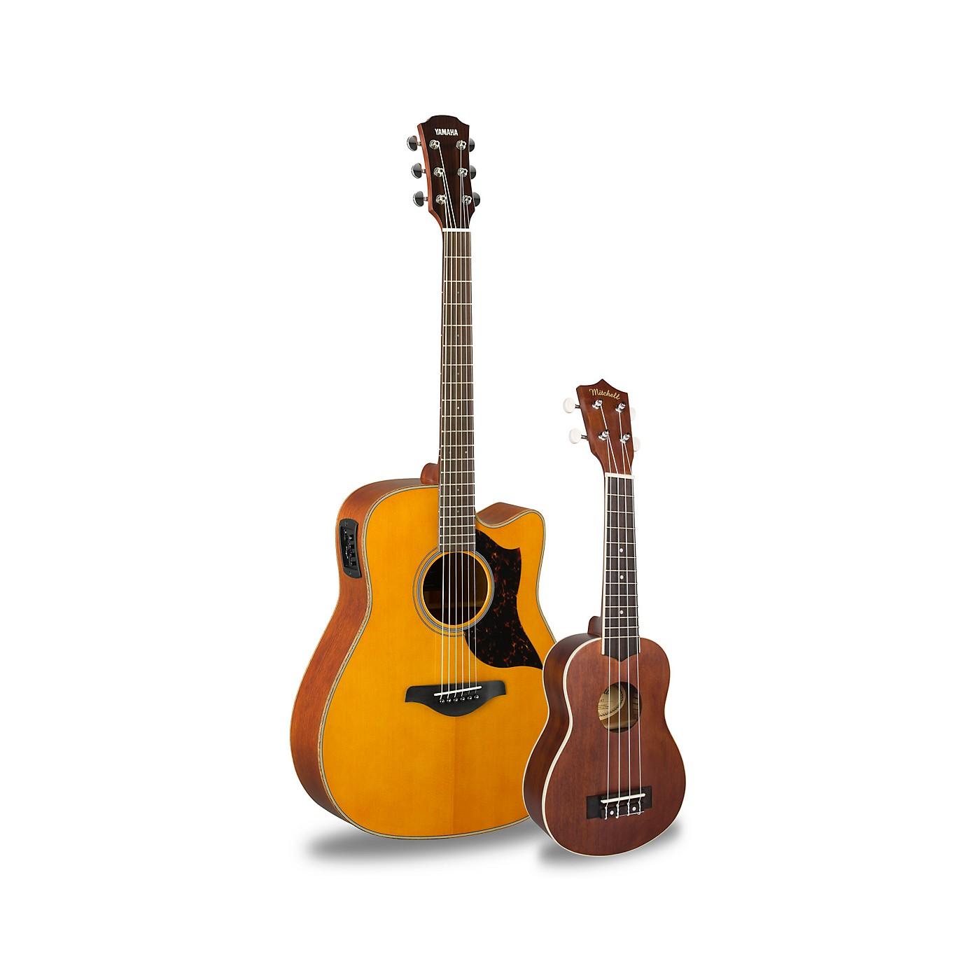 Yamaha A1M Acoustic-Electric Guitar and Ukulele Package thumbnail