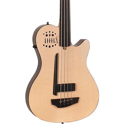 Godin A4 Ultra Natural Fretless SA Acoustic-Electric Bass Guitar thumbnail