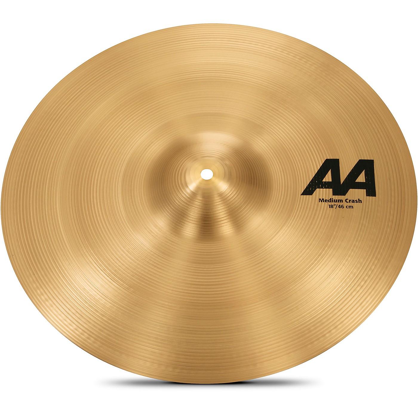 Sabian AA Medium Crash Cymbal thumbnail