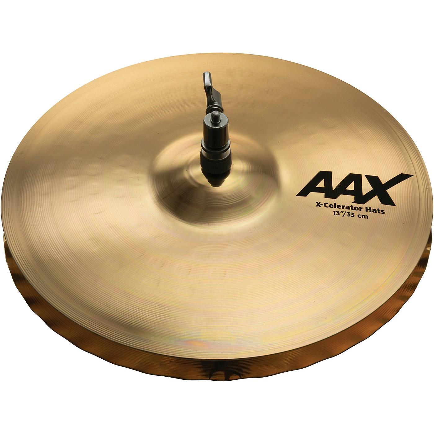 Sabian AAX-Celerator Brilliant Hi-Hat Cymbals thumbnail