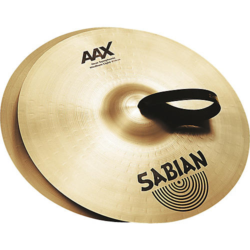 Sabian AAX New Symphonic Medium Light Cymbal Pair thumbnail