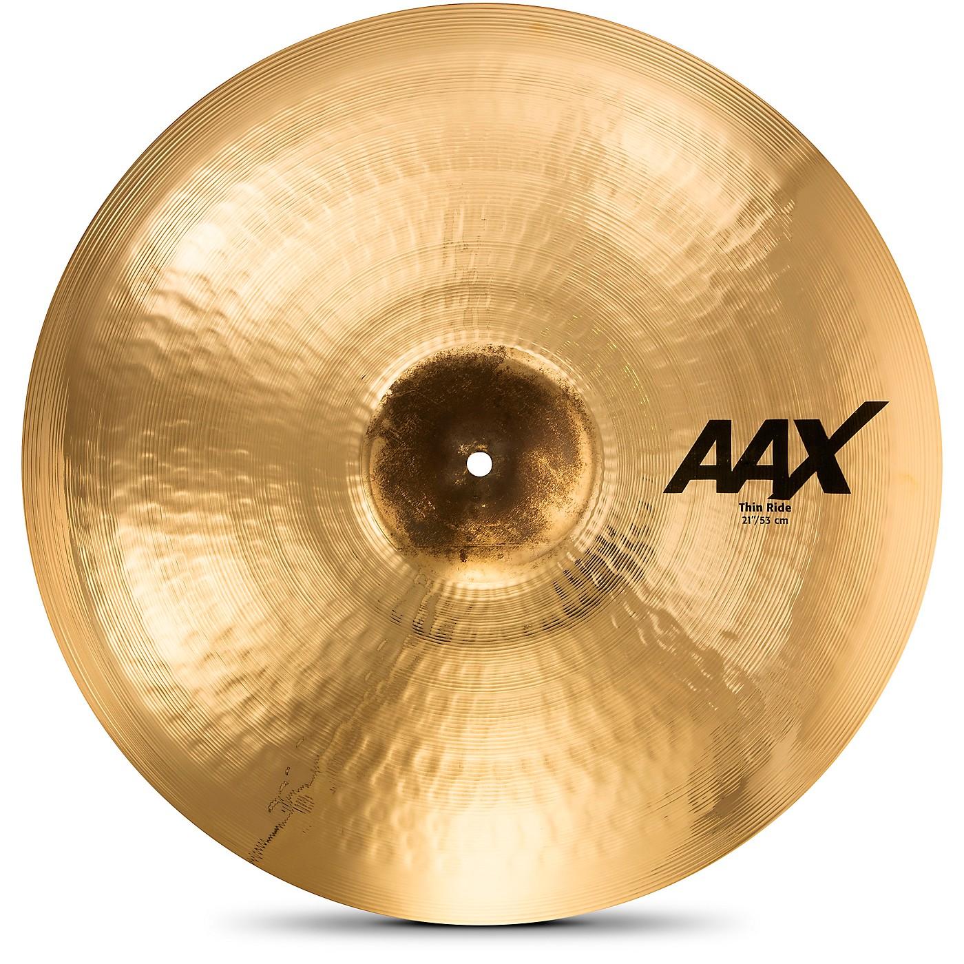 Sabian AAX Thin Ride Cymbal, Brilliant thumbnail