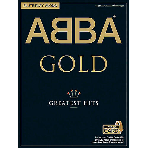 Music Sales ABBA Gold Greatest Hits Flute Play-Along (Book/Online Audio) thumbnail