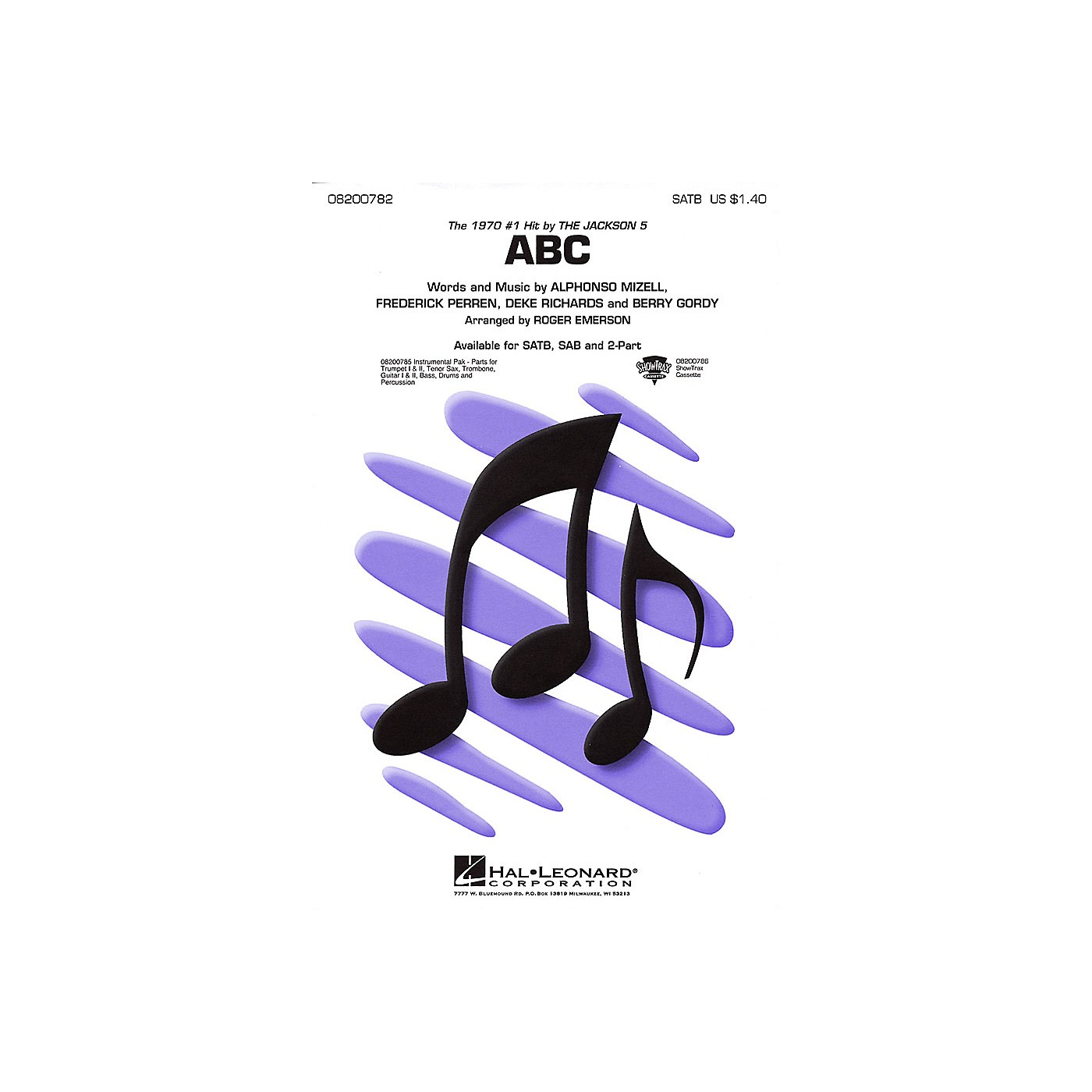 Hal Leonard ABC Combo Parts by The Jackson 5 Arranged by Roger Emerson thumbnail