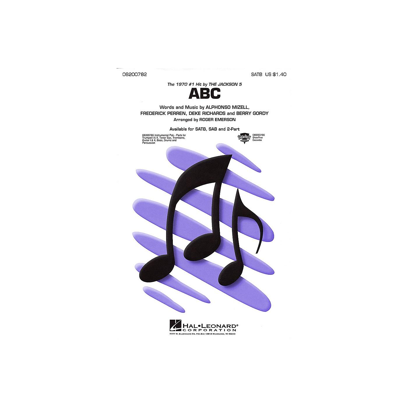Hal Leonard ABC SATB by The Jackson 5 arranged by Roger Emerson thumbnail