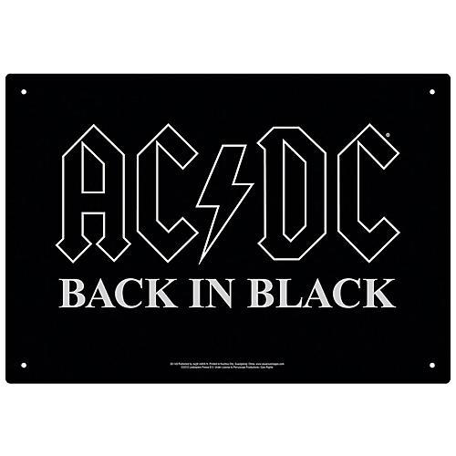 Hal Leonard AC/DC Back in Black Tin Sign thumbnail