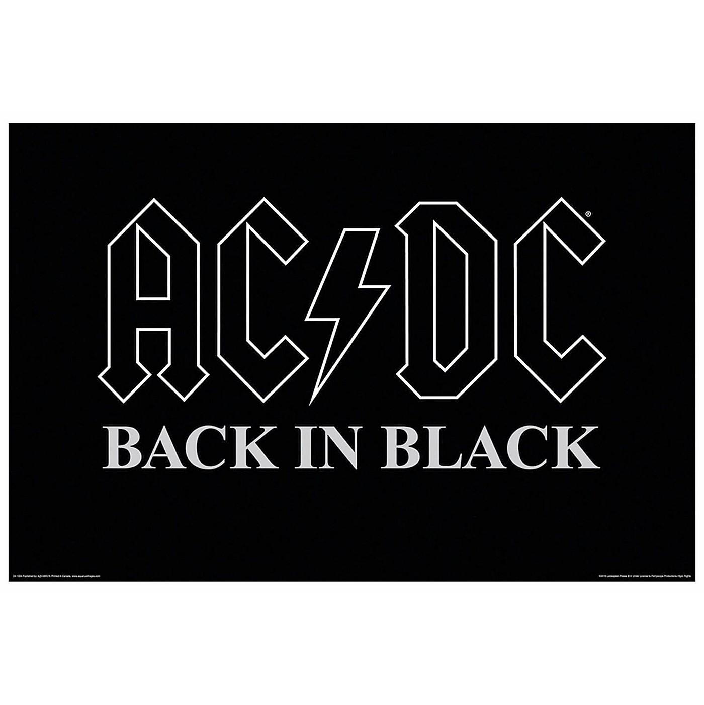Hal Leonard AC/DC Back in Black Wall Poster thumbnail