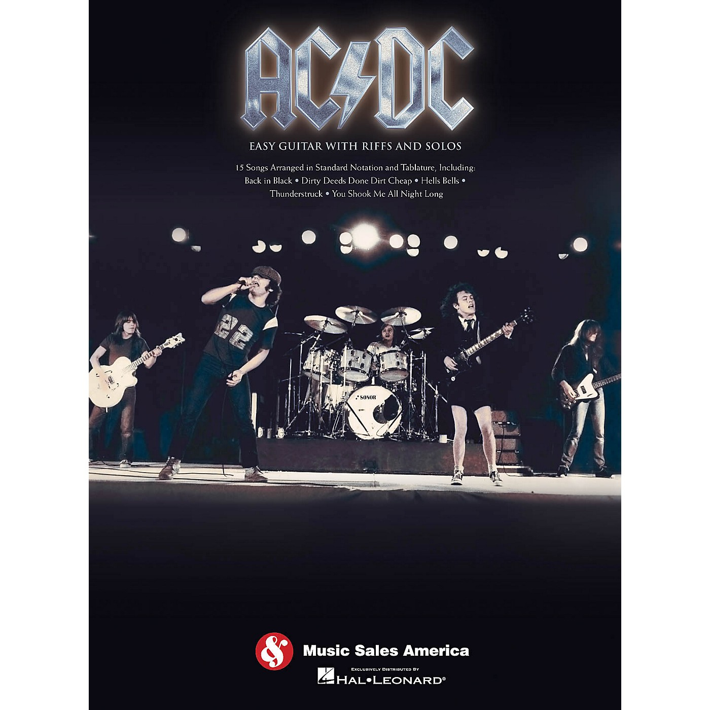 Music Sales AC/DC Easy Guitar TAB with Riffs And Solos thumbnail