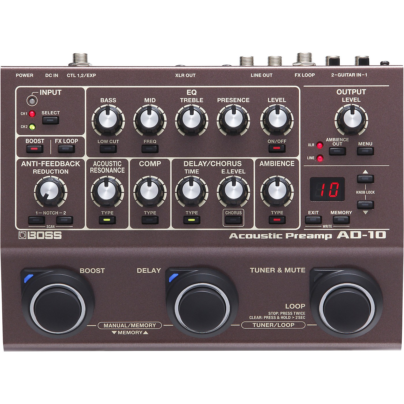 Boss AD-10 Acoustic Guitar Multi-Effects Pedal thumbnail