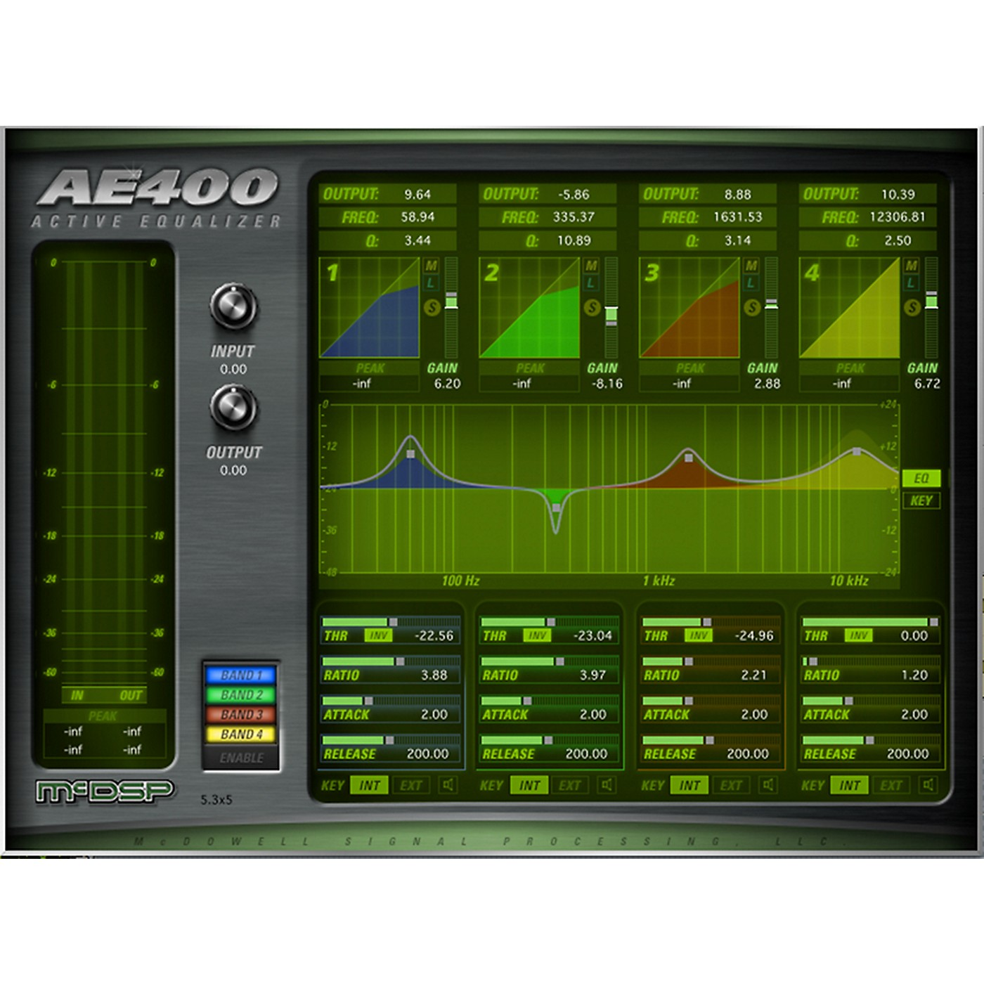 McDSP AE400 Active EQ HD Plug-in Software Download thumbnail