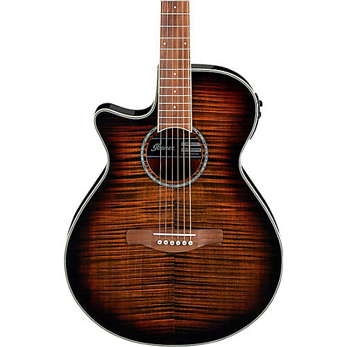 Ibanez AEG19LII Left-Handed Acoustic-Electric Guitar with Flamed Maple Top thumbnail