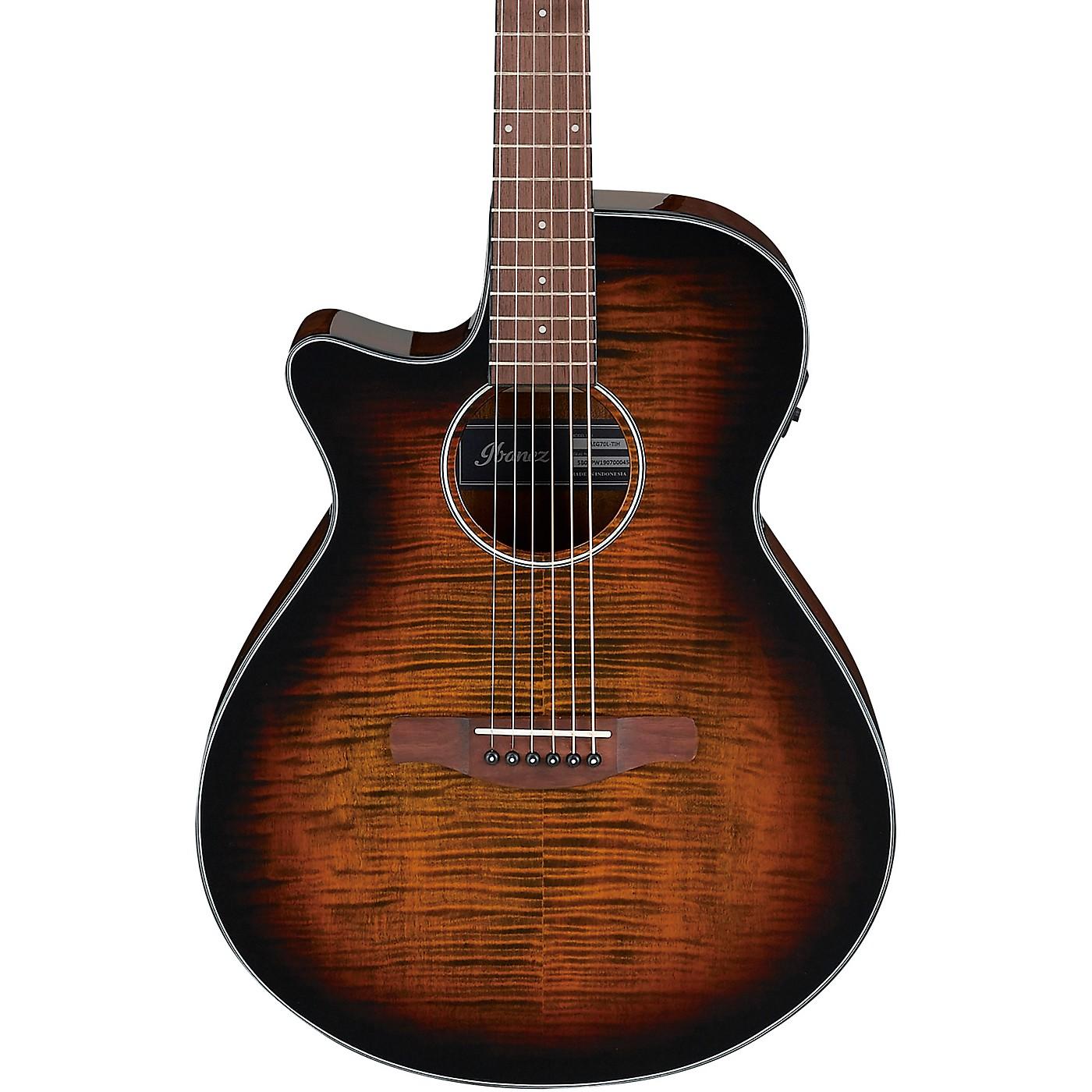 Ibanez AEG70L AEG Left-Handed Grand Concert Acoustic-Electric Guitar thumbnail