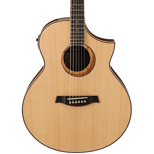 Ibanez AEW21VKNT Ovangkol Exotic Wood Acoustic-Electric Guitar thumbnail