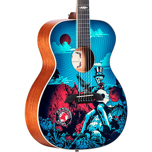 Alvarez AF60GD Grateful Dead OM Acoustic Guitar thumbnail