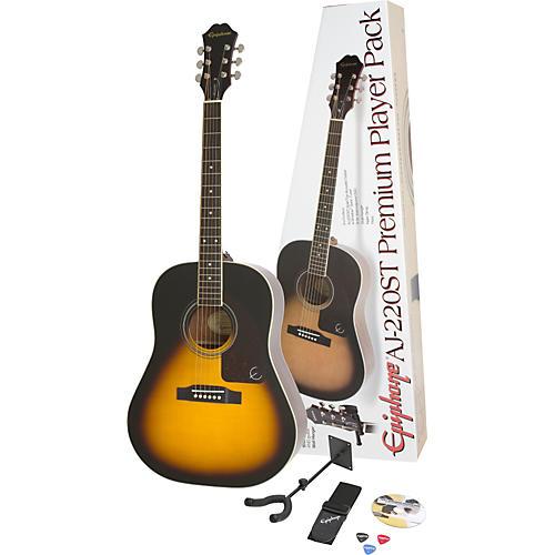 Epiphone AJ-220ST Solid Top Acoustic Guitar Pack thumbnail