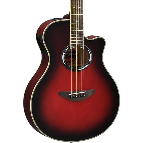 yamaha apx500iii thinline cutaway acoustic electric guitar woodwind brasswind. Black Bedroom Furniture Sets. Home Design Ideas