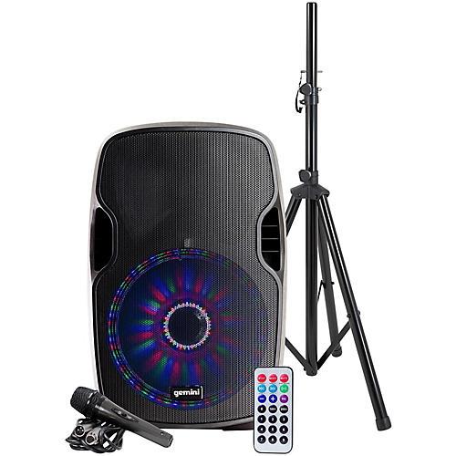 Gemini AS-12BLU-LT-PK 12 in. Powered Bluetooth Speaker Package thumbnail