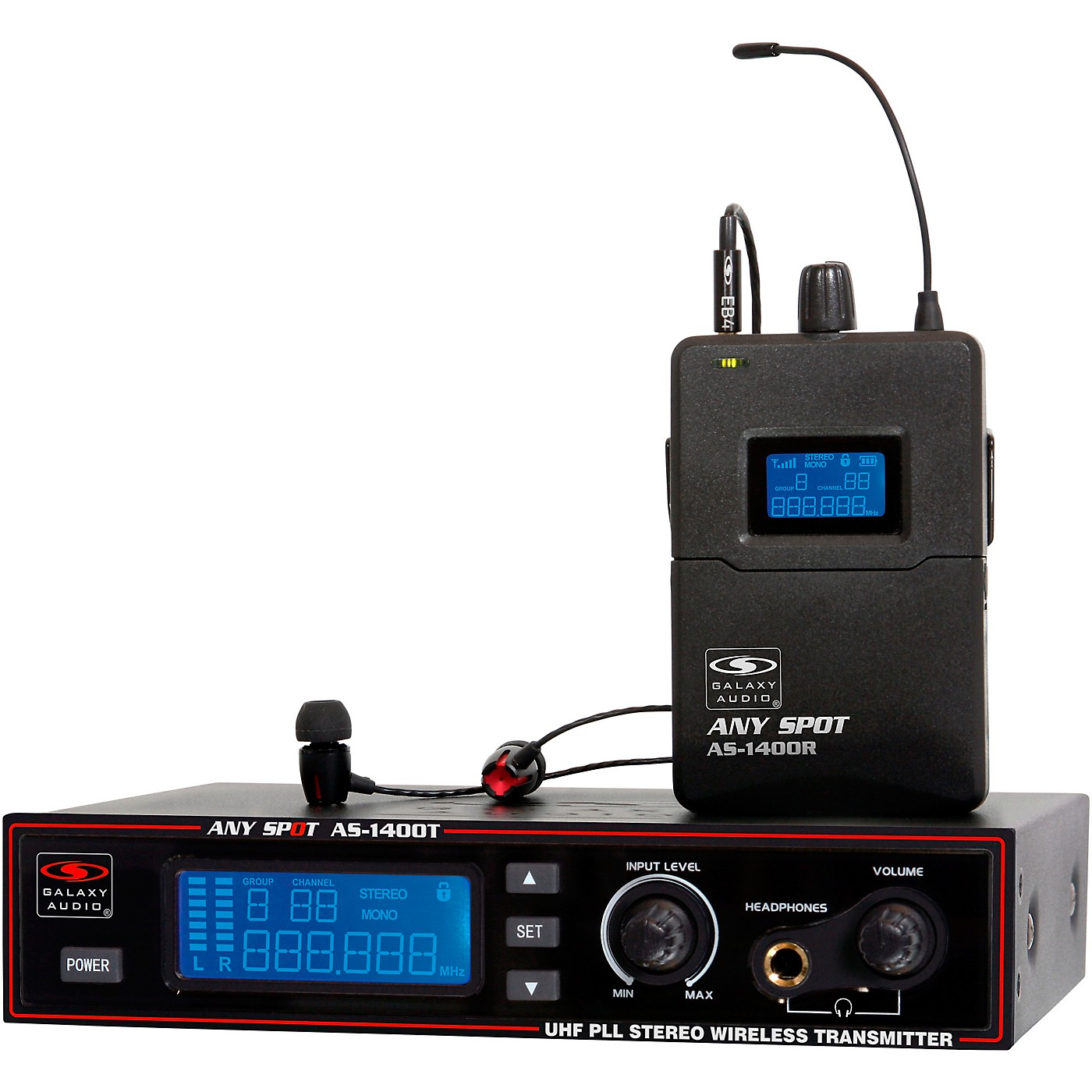 Galaxy Audio AS-1400 Wireless Personal Monitor System thumbnail
