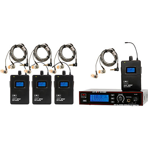 Galaxy Audio AS-1410-4 Wireless Personal Monitor Band Pack System thumbnail