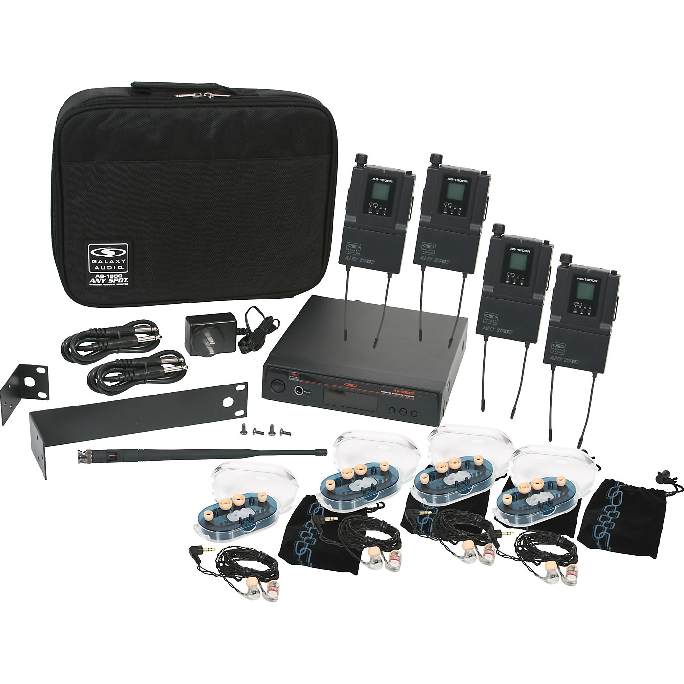 Galaxy Audio AS-1800 Any Spot Wireless Personal Monitor Band Pack w/EB6 earbuds thumbnail