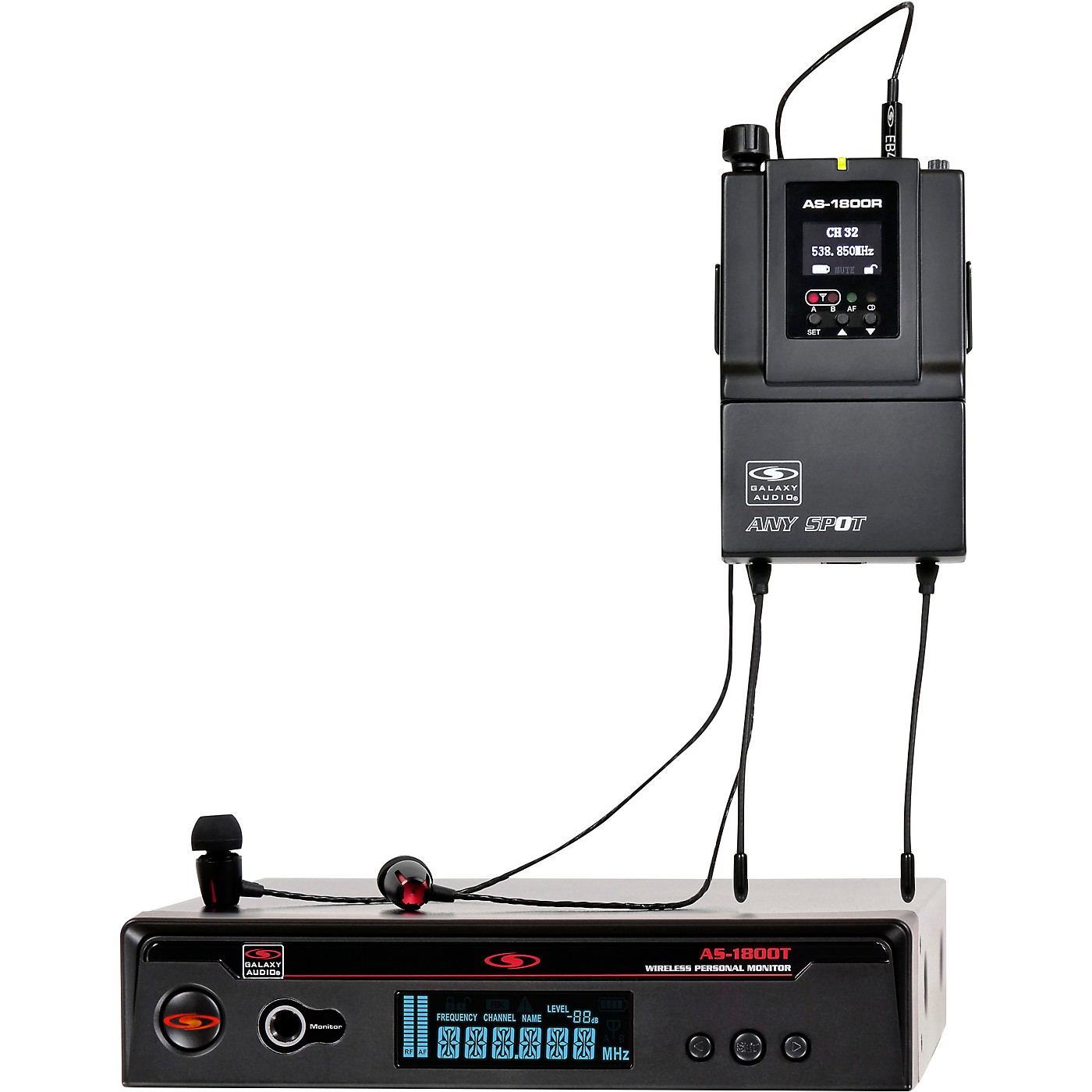 Galaxy Audio AS-1800 Wireless In-Ear Monitor System thumbnail