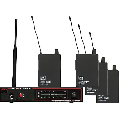 Galaxy Audio AS-900-4 Band Pack Wireless System thumbnail