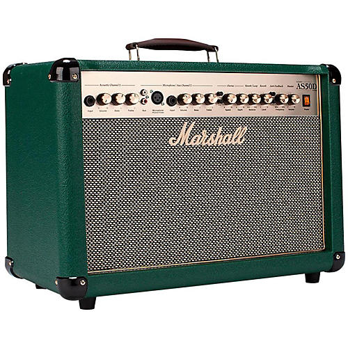 Marshall AS50DC Limited Edition 50W Acoustic Guitar Combo Amp Green thumbnail