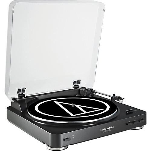 Audio-Technica AT-LP60BK-USB Fully Automatic Belt-Drive Stereo Record Player (USB & Analog) thumbnail