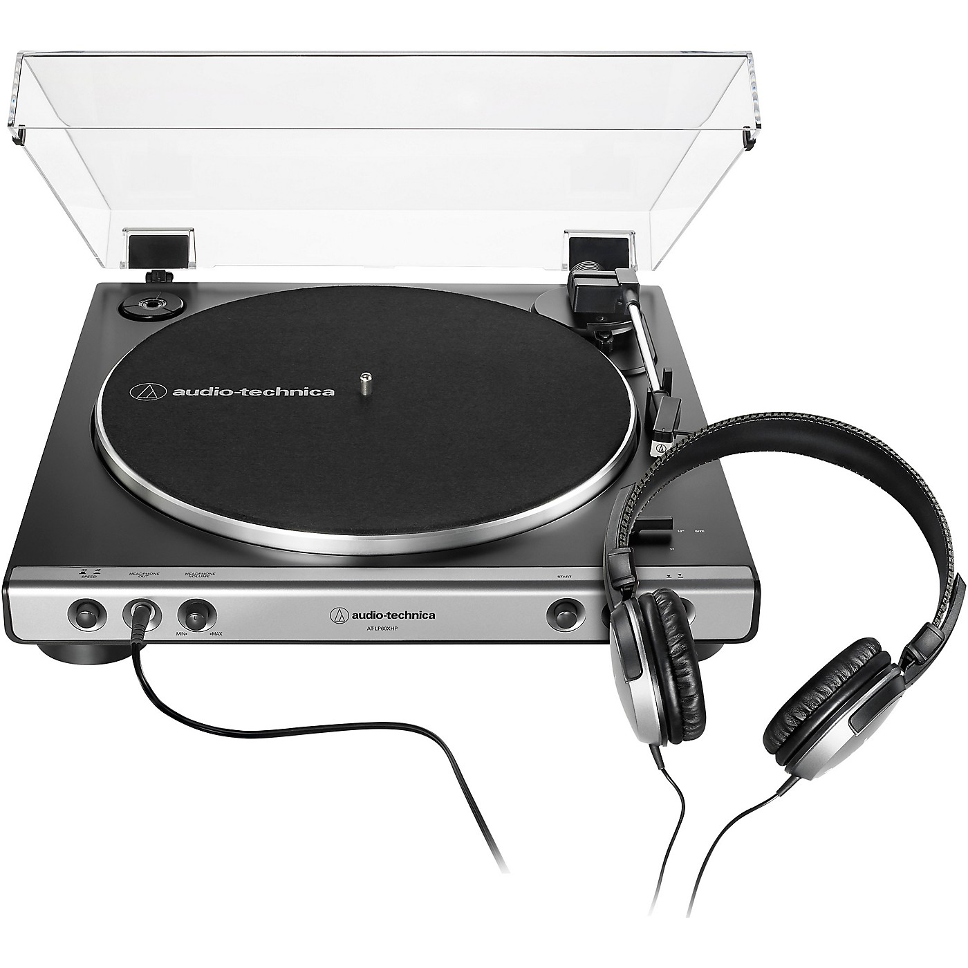 Audio-Technica AT-LP60XHP Package with AP-LP60X Turntable and Headphones thumbnail
