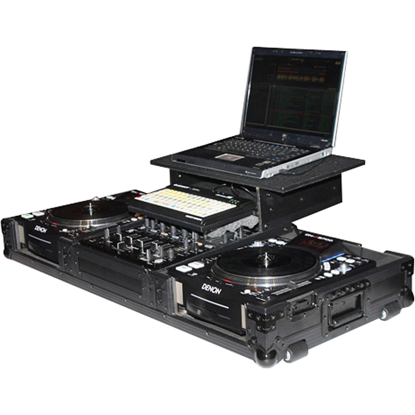 Odyssey ATA Black Label Coffin for Laptop, Two CD Players, and Mixer thumbnail