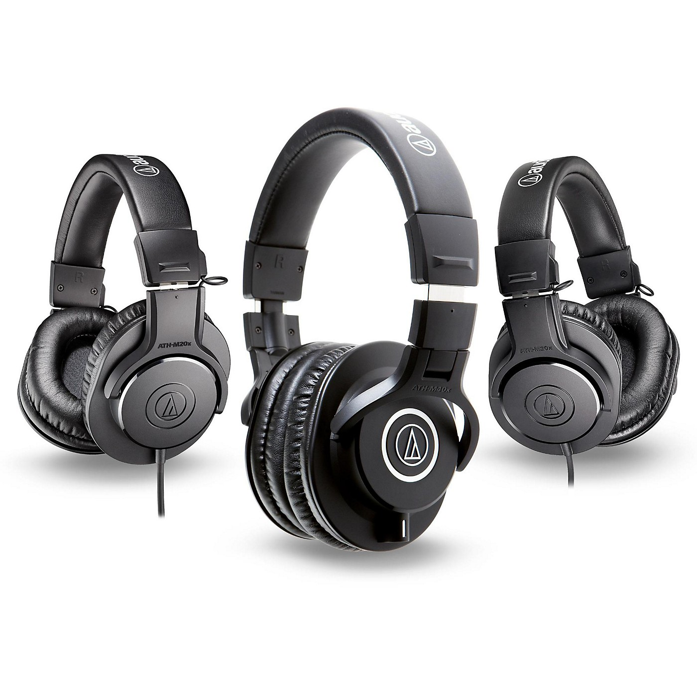 Audio-Technica ATH-M40x Headphones with 2 ATH-M20x Headphones thumbnail