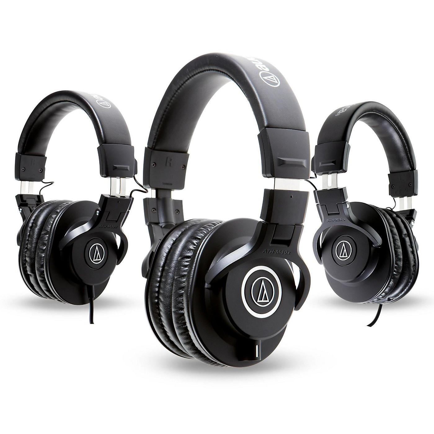 Audio-Technica ATH-M40x Headphones with 2 ATH-M30x Headphones thumbnail