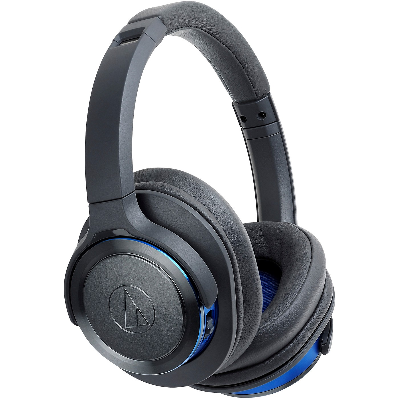 Audio-Technica ATH-WS660BTGBL Solid Bass Over-Ear Bluetooth Headphone in Blue/Gray thumbnail