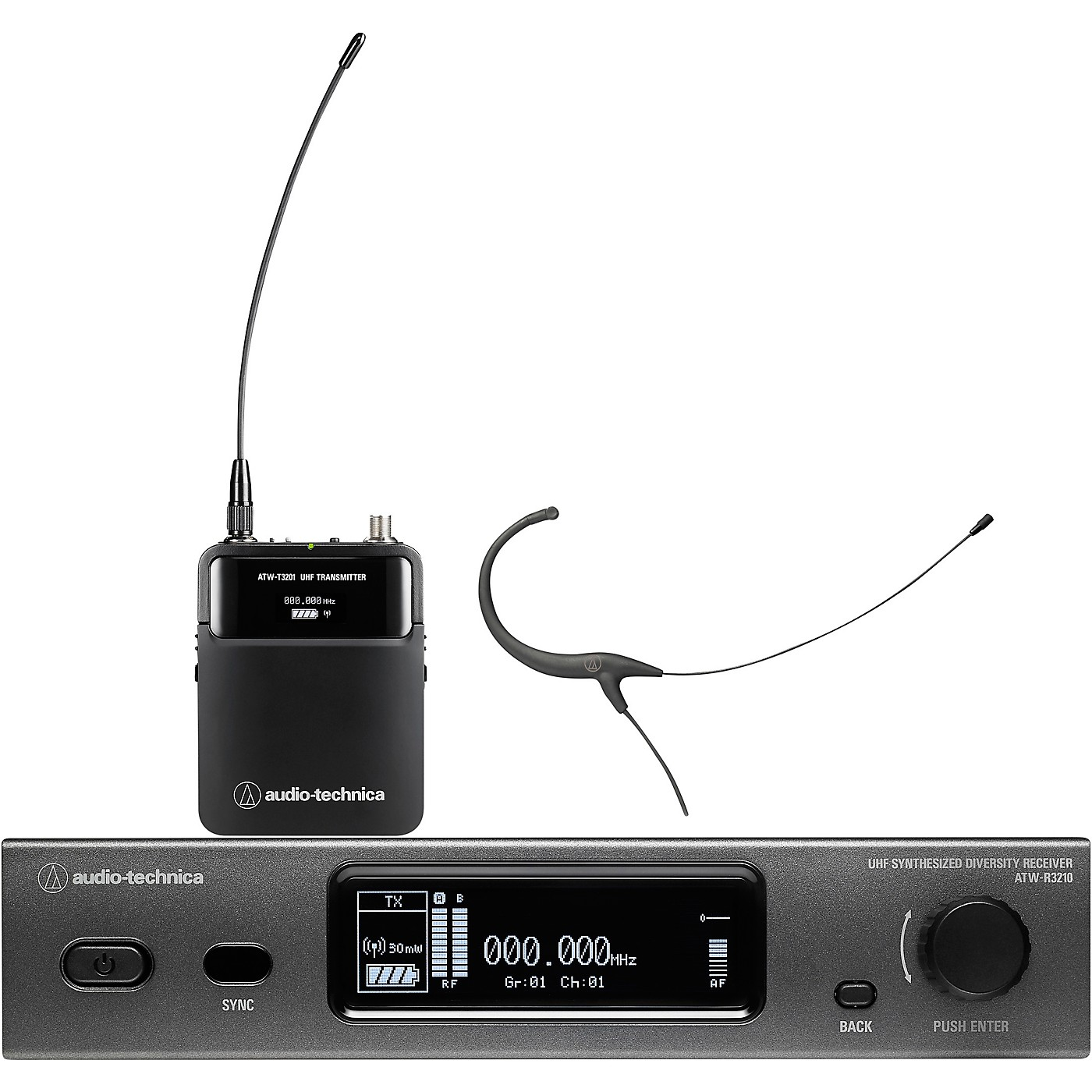 Audio-Technica ATW-3211/892 3000 Series (Fourth Generation) Frequency-agile True Diversity UHF Wireless Systems thumbnail