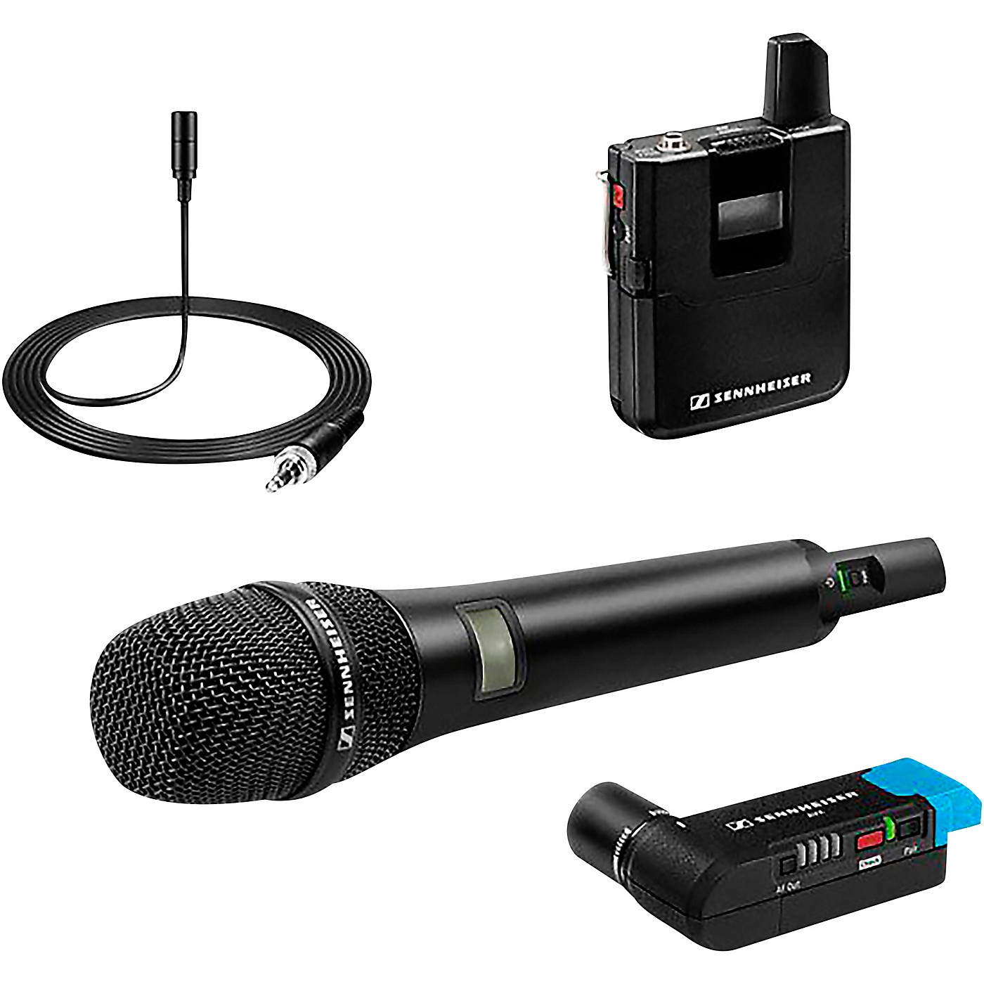 Sennheiser AVX COMBO-SET-4-US Handheld Microphone Wireless Systems with EKP Receiver and ME 2 Lavalier thumbnail