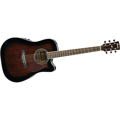 Ibanez AW300ECE Artwood Solid Top Dreadnought Cutaway Acoustic-Electric Guitar-thumbnail