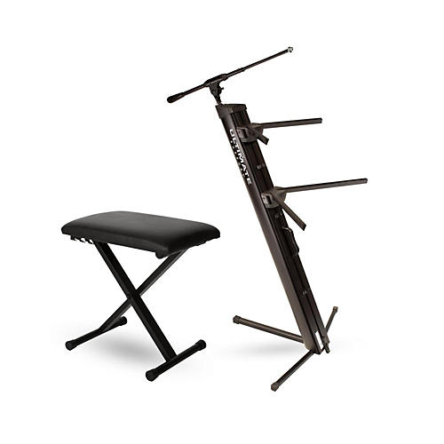 Ultimate Support AX-48 Pro Plus Keyboard Stand w/ Padded Bench thumbnail