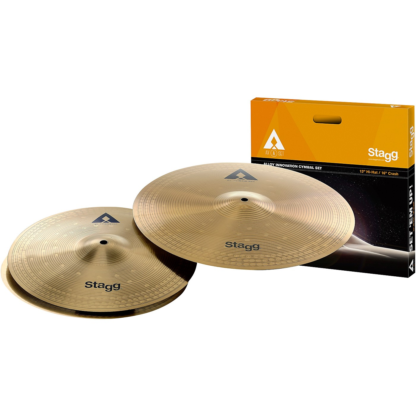 Stagg AX Series Copper-Steel Alloy Innovation Cymbal Set thumbnail
