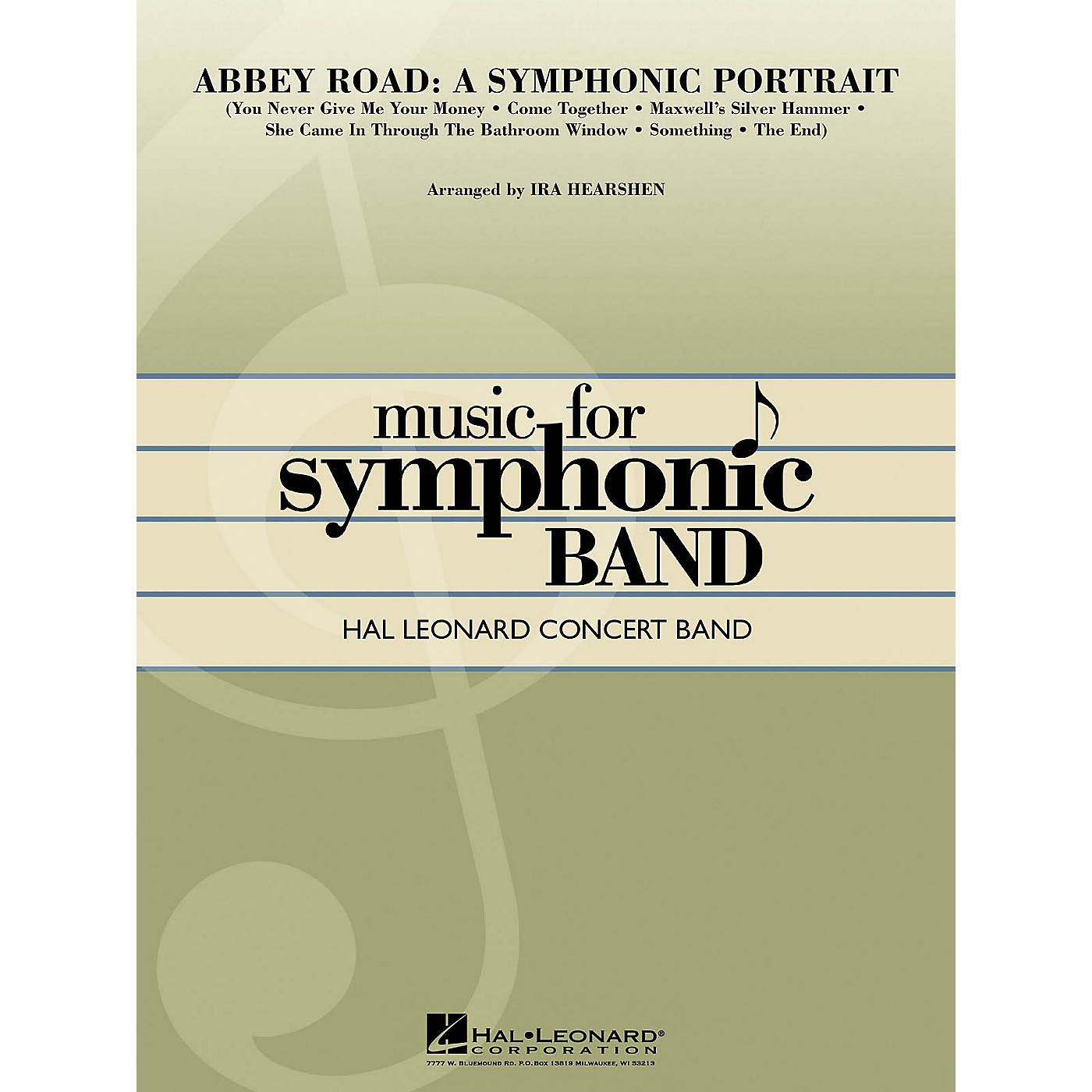 Hal Leonard Abbey Road - A Symphonic Portrait Concert Band Level 4 by The Beatles Arranged by Ira Hearshen thumbnail