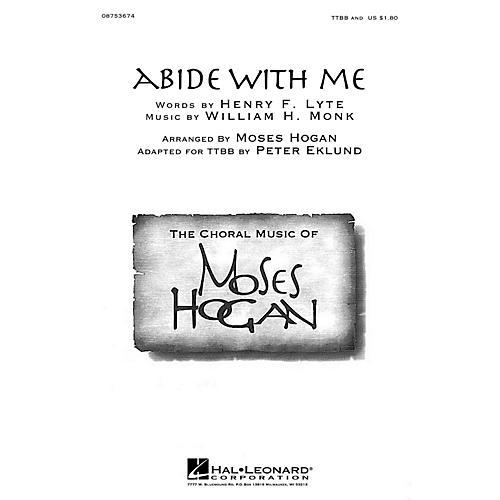 Hal Leonard Abide With Me Ttbb A Cappella Arranged By Moses Hogan Wwbw