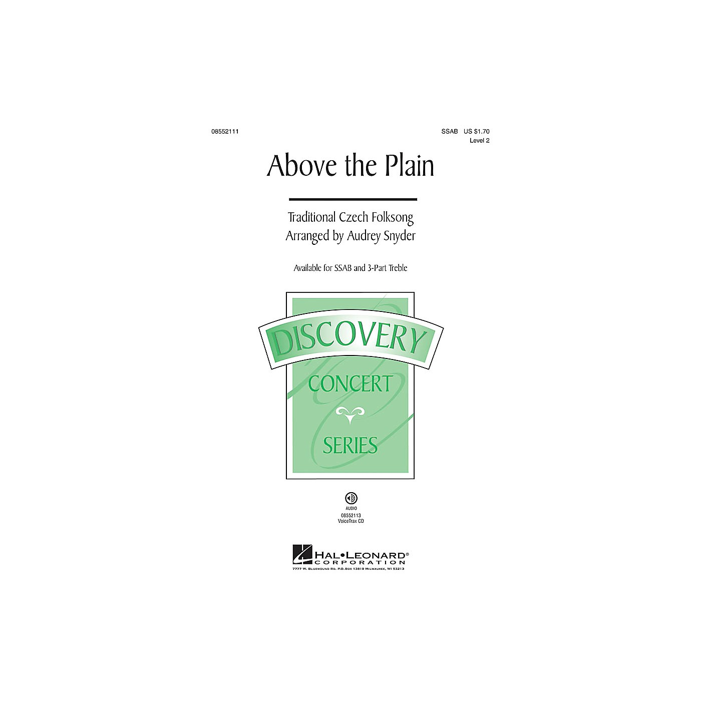 Hal Leonard Above the Plain (Discovery Level 2) VoiceTrax CD Arranged by Audrey Snyder thumbnail