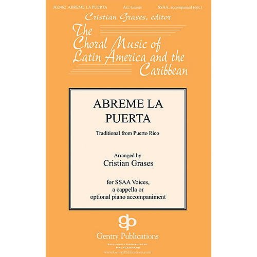 Gentry Publications Abreme La Puerta SSAA arranged by Cristian Grases thumbnail