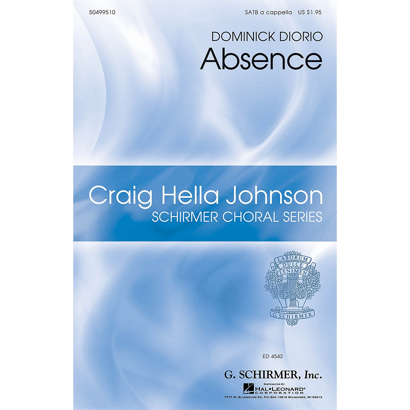 G. Schirmer Absence (Craig Hella Johnson Choral Series) SATB composed by Dominick DiOrio thumbnail