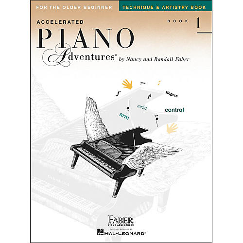 Faber Piano Adventures Accelerated Piano Adventures Technique & Artistry Book - Book 1 for The Older Beginner - Faber Piano thumbnail