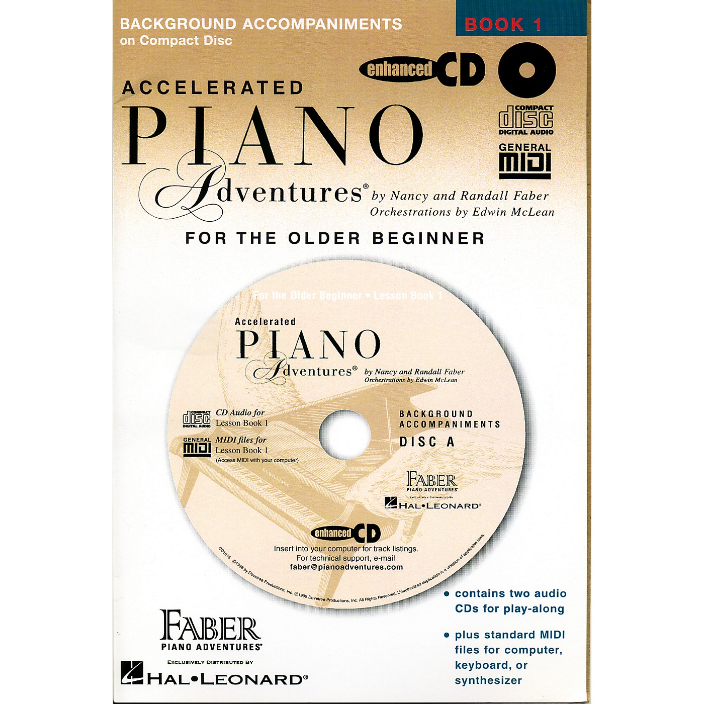 Faber Piano Adventures Accelerated Piano Adventures for The Older Beginner CD - Faber Piano thumbnail