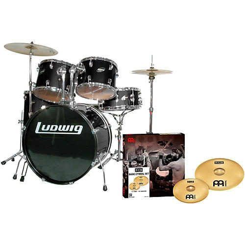 Ludwig Accent Combo 5-piece Drum Set with Meinl Cymbals thumbnail