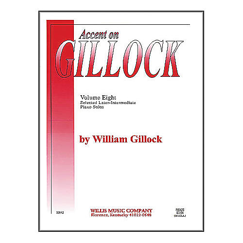 Willis Music Accent On Gillock Selected Later-Intermediate Piano Solos Volume 8 thumbnail