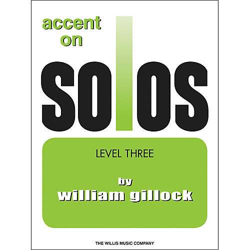Willis Music Accent On Solos Level Three thumbnail